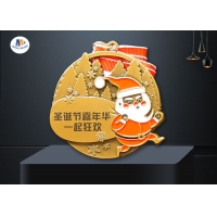 70*3MM Zinc Alloy Christmas Tree Santa Claus Stock Medals for sale