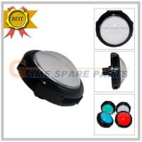 Quality 100mm illuminated convex round button with led and microswitch (white) for sale