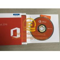 China Office 2016 Professional Retail Genuine  DVD Box for Windows PC Product Key Card Full Version on sale