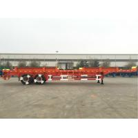 Quality CIMC Truck Dual Axle Flatbed Trailer ABS System Axle For Port Yard for sale