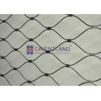 Quality Animal Enclosures Stainless Steel Rope Mesh Netting Security Platform Fence for sale