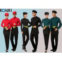 Quality Cool Restaurant Staff Uniforms With Solid Color Long Sleeve Shirt And Pants for sale