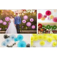 Best Assorted Colors Paper Fans Wholesale for Wedding Party Decoration wholesale