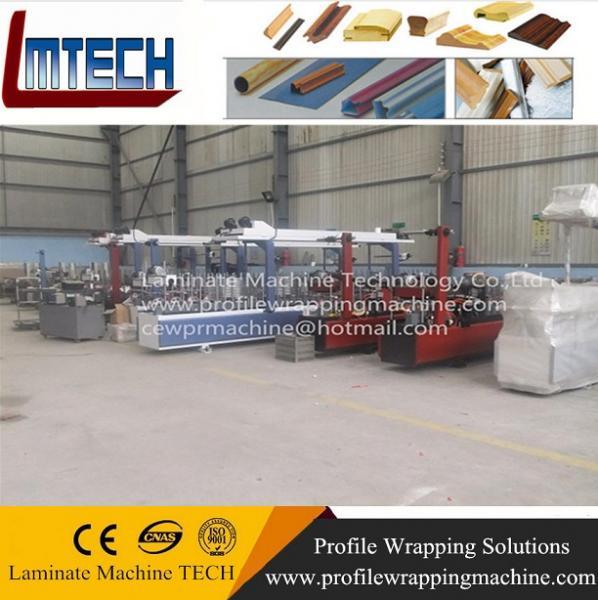 wood profile wrapping machine