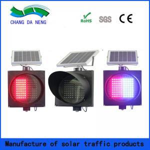 China Red blue two colors solar led aluminum signal light/traffic baton light on sale