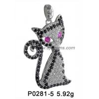 China Gift Fancy Animal Gemstone Jewelry Pendant  Rhodolite Peridot For Party on sale