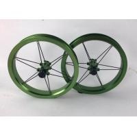 Quality 12inch Straight-Pull Bearing Children Kids Balance Bike Wheelset Sliding Bicycle Wheels 84 90 95mm Green Color for sale