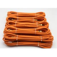 China 1/4 Inch WP 20bar Rubber Lpg Gas Hose with Brass Fitting , Orange Colour on sale