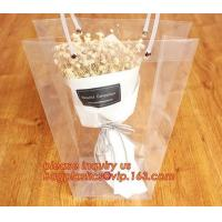 Quality PP plastic flower carry bags with hanging for potted plant bags,quality assurance great quality pp flower bag bagease pa for sale