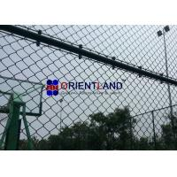 Quality Oil And Gas Station Chain Link Fencing Wire , Anti Climb Mesh Fencing Round Post for sale
