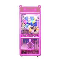 Quality Bear Claw Crane Arcade Machine With Glass Cabinet for sale