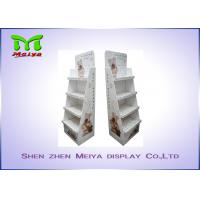 Cheap 4 Tiers Custom cardboard displays for Pet Accessories , cardboard shelf display for sale