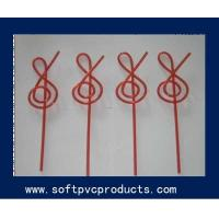 Quality Promotional Disposable Drinking Straw Holder , Multi Color PVC Figure Drinking Straws for sale