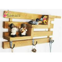 Best 3 hooks Family Wall Hanger Cloth Hats Bag Key wood Hook wooden ladder shelf home decorator wholesale