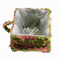 Buy cheap Natural Moss Rattan Cup Planter, Eco-friendly, OEM Orders Are Welcome from wholesalers