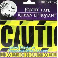 Quality Halloween Birthday Party theme warning caution PE tapes for event decoration,Halloween Caution Tapes,Halloween Warning T for sale