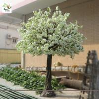 UVG CHR018 Artificial White Cherry flower Big Tree for wedding home christmas decoration