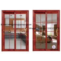 China Aluminum Glass Sliding Door With 60 Series Aluminum Frame And Frosted on sale