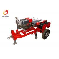 Quality Five Ton Dual Bull Wheel Powered Diesel Winch For Pulling And Tensioning Lines for sale