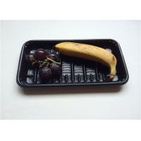 Best Black Small PP Food Tray , Take Away Plastic Containers With Lids For Banner wholesale
