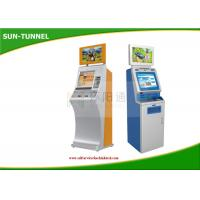 Currency Free Standing Bank Self Service Kiosk , Exchange Check In Kiosk Touch Screen