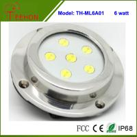 Quality 6X1W Optional Green,Blue or White Marine Boat LED Underwater Surface Mount Dome LED light for sale