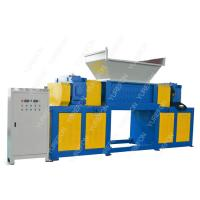 China Cardboard Carton Paper Shredder Machine High Throughput Rate With Two Shaft on sale