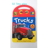 China Custom Mold Toy Trucks Baby Sound Books for Indoor Kid's Eductational Learning on sale