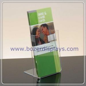 China Single Pocket Clear Acrylic Portable Brochure Holders on sale
