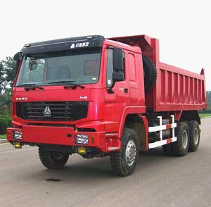 Quality Euro 2 Heavy Crawler Dump Truck / 251 - 350HP Sinotruk Howo 6x6 Tipper Truck for sale