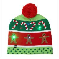 Buy cheap Girls Promotional Products Caps / Knitted Beanie Christmas Hats LED Lighted from wholesalers