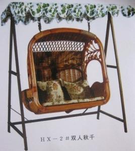 China Rattan patio swing chair on sale