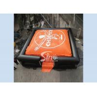 China 10x10m outdoor adults big inflatable air bag for adventure games on sale