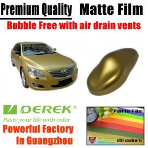 Quality Matte Car Wraps Vinyl Film - Matte Gold Car Wrapping Film for sale