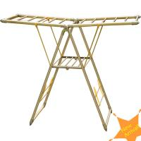China Clothes hangers-GCCH-06 Butterfly-type land folding clothes hanger rack on sale