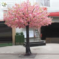 Best UVG 3.5m tall artificial decorative trees with pink cherry blossoms for garden landscaping CHR028 wholesale