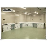 China Chemical Resistant Lab Bench Furniture With PP Worktop And Cabinet For Laboratory on sale
