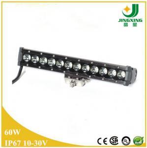 China 24v single row cree led light bar 60W led light bars for trucks on sale