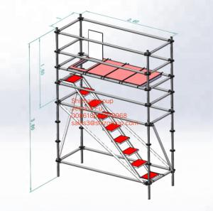 Quality Customized Mobile Steel Scaffold Aluminium Access Tower diagonal pipe for sale