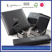 China Dark Cardboard Custom Printed Packaging Boxes Recyclable Jewelry Paper Box Set on sale