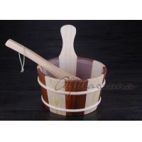 """Best Liner 7"""" high Wooden Water Bucket hold one gallon with plastic liner wholesale"""