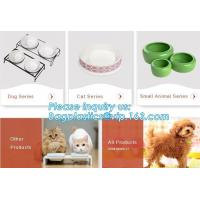Lovely Personalized portable pet dog food water bowl ceramic plastic, Plastic