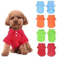 China blank Pet Puppy Summer Shirt Pet T Shirt pet accessories wholesale china on sale