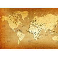 Quality World Map Interior Decorative Wall Panels For TV Wall  , 5mm 7mm 9mm Thickness for sale