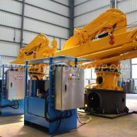 Quality HAOYO 1.2ton/14.4m Folding Electric Hoist Small Boat Marine Crane for sale