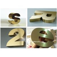 China Titanize / Brass Color Stainless Steel Signs Eco Friendly With 12 Years Experience on sale