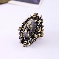 Best Fashion jewelry design hollow out spider skull alloy ring wholesale