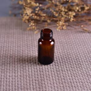 China Old Brockway Glass amber medicine bottle Brown 2 OZ silk screen printing on sale