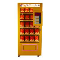 Quality Full Metal Soda Vending Machine , Blue / Pink / Yellow Lucky Box Food Vending Machines for sale