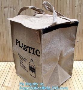 Quality Lightweight collapsible jute fabric storage bin basket,Jute multifunctional moisture-proof debris storage basket desktop for sale